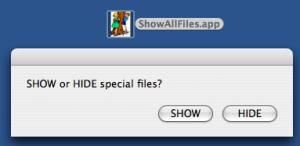Show and hide hidden files