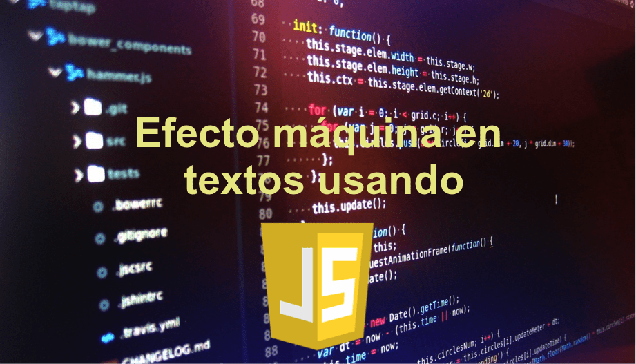 In this post you will learn how to do the machine effect in a text using JavaScript: you will get a code that will do it INCREDIBLY.