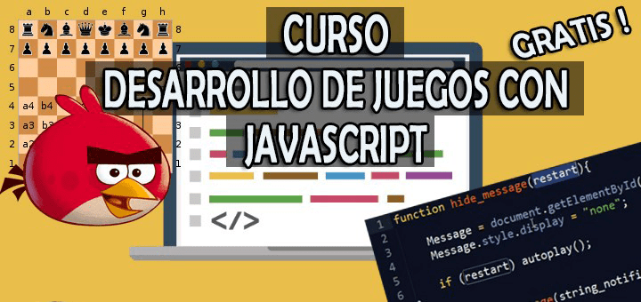 You will find an excellent course to learn how to CREATE A VIDEO GAME in JavaScript, that is: create a video game for the web.