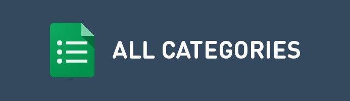 Todas las categorías de nuestro sitio web.