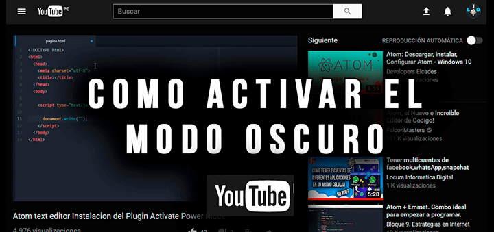How to activate YouTube night mode.