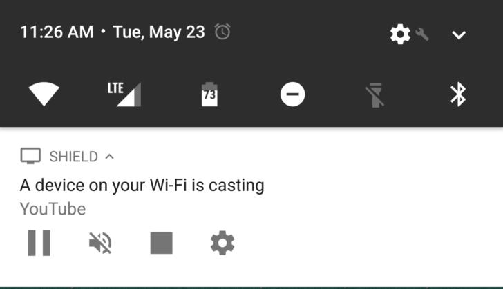 Disable Chromecast notification.
