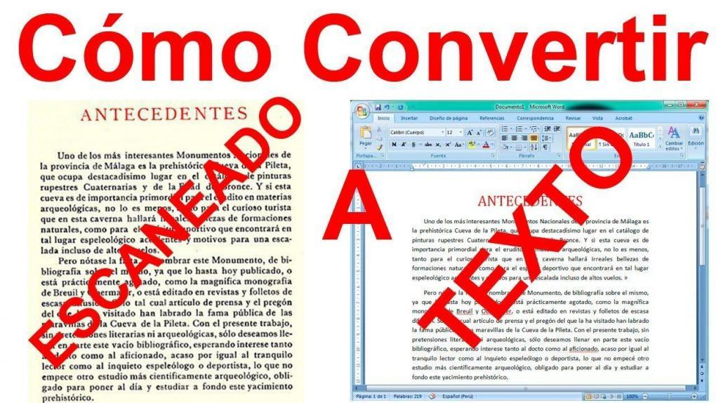 Convert from text image to digital text (OCR format).