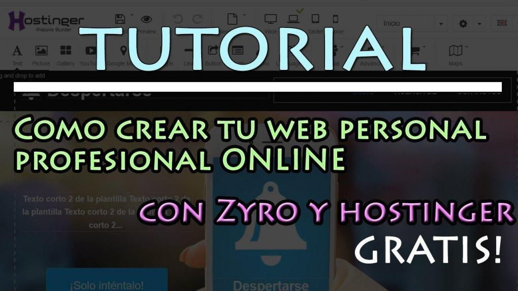 How to create a professional website from scratch with Zyro.