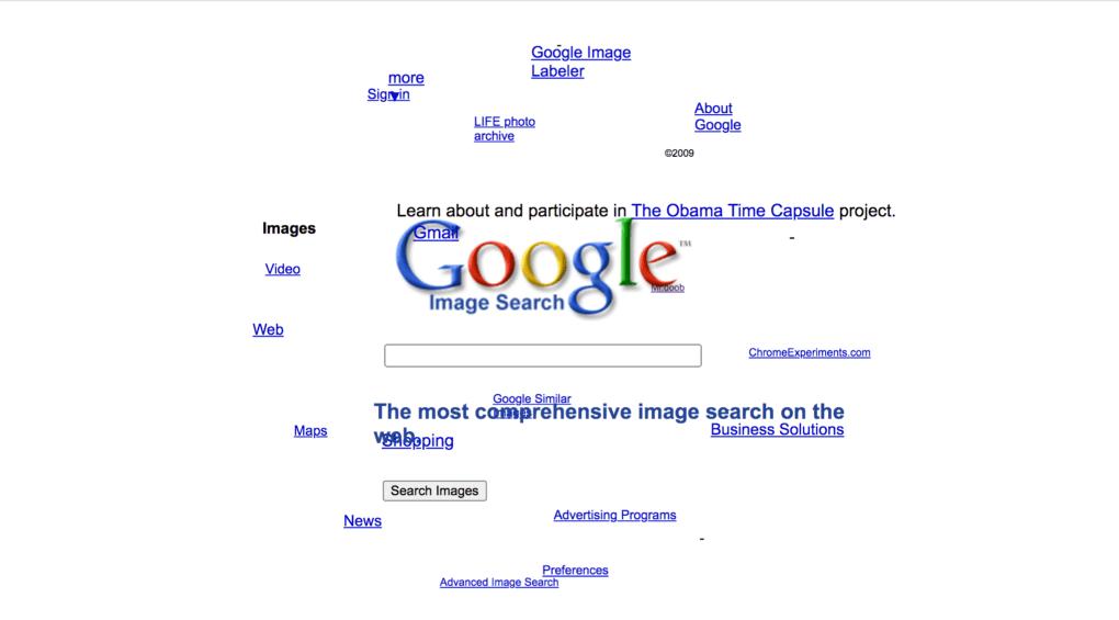 Google Sphare, un truco que hace que los elementos del buscador se muevan.
