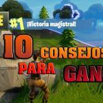 In this post we will explain 10 tips that you must see and follow if you want to WIN in Fortnite Battle Royale. ENTERS!