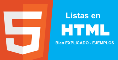 You will learn all about the ⭐ LISTS in HTML ✅ (and change the VIÑETAS): we will approach the ORDERED and the DISORDERED with CLEAR EXAMPLES. ⭐ ENTER!
