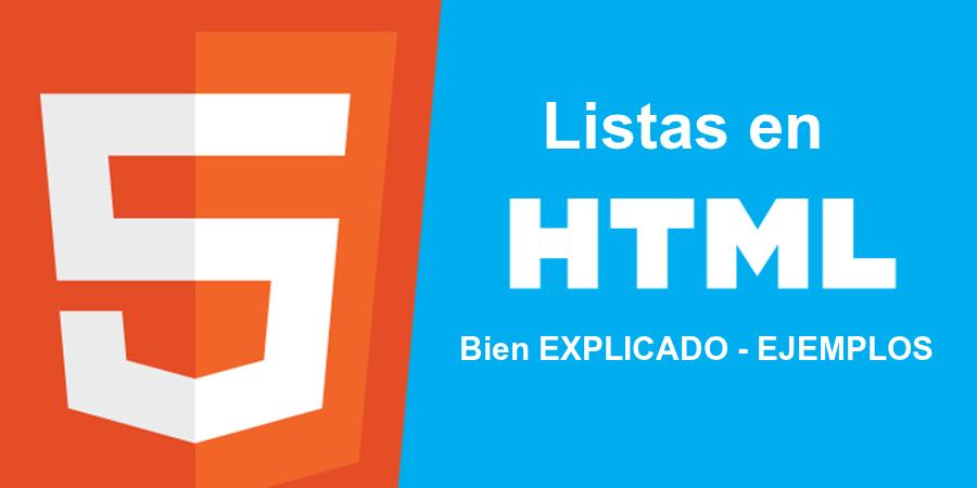 Aprenderás todo acerca de las ⭐ LISTAS en HTML ✅ (y cambiar las VIÑETAS): abordaremos las ORDENADAS y las DESORDENADAS con EJEMPLOS CLAROS. ⭐ ¡ENTRA!