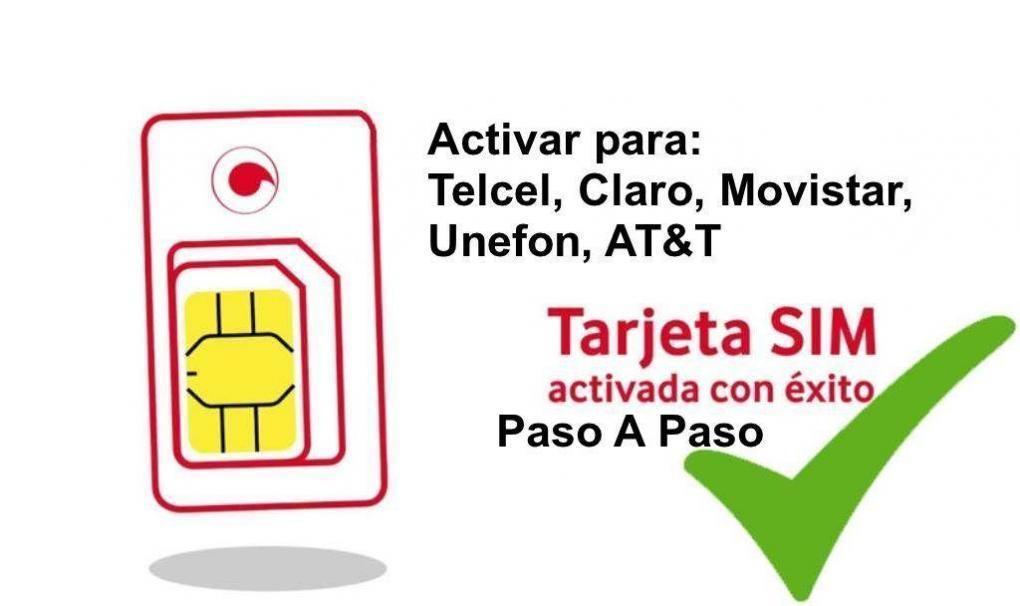 Aprende cómo ⭐ ACTIVAR CHIP PERSONAL / tarjeta SIM (tanto para Telcel, AT&T, Movistar, Claro, Unefon) y así poder comunicarte en tu dispositivo móvil. ✅⭐