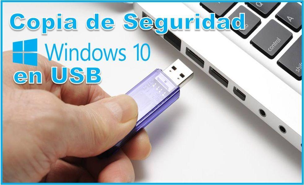copia de seguridad de Windows 10 en USB