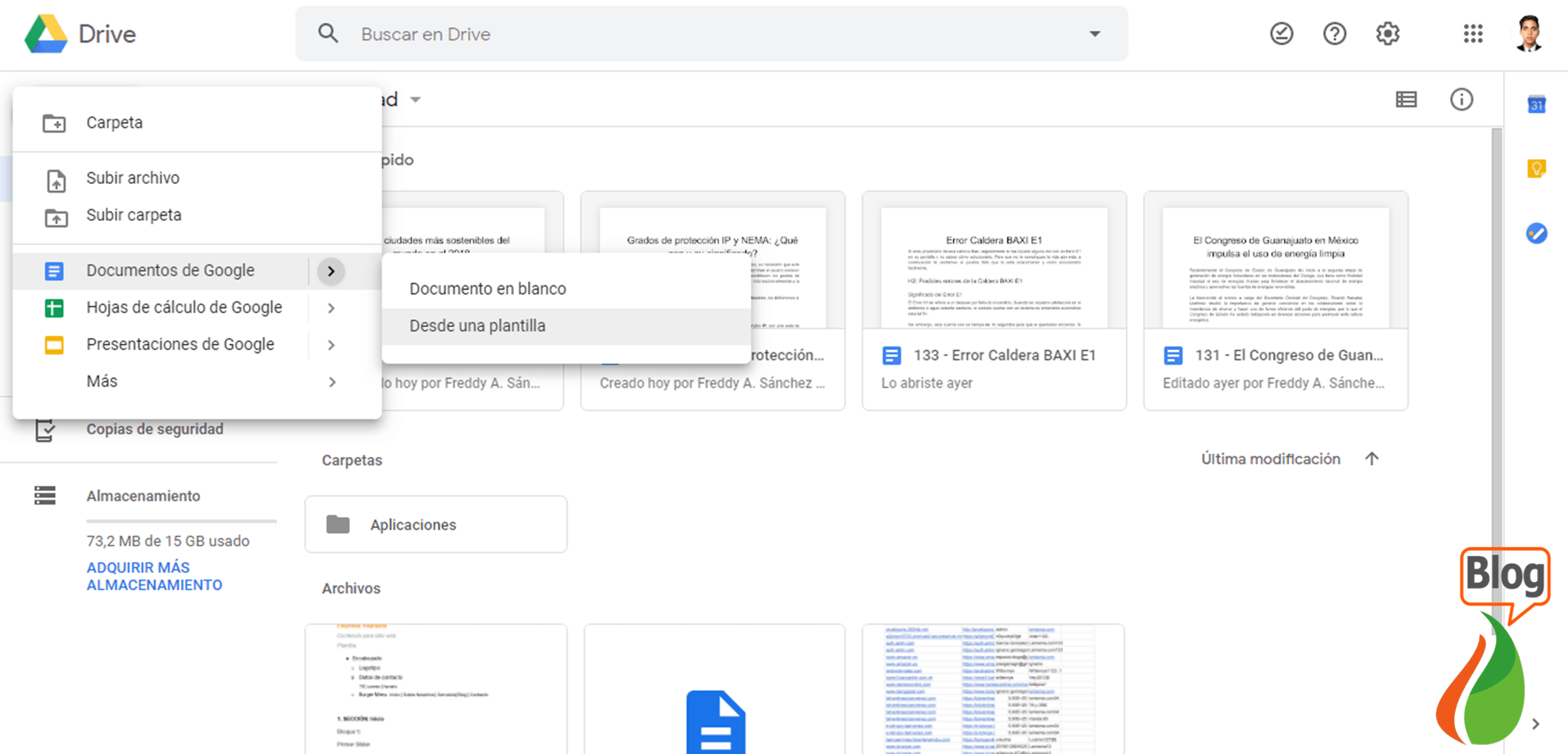 Among the programs similar to Microsoft Office we have Google Suite
