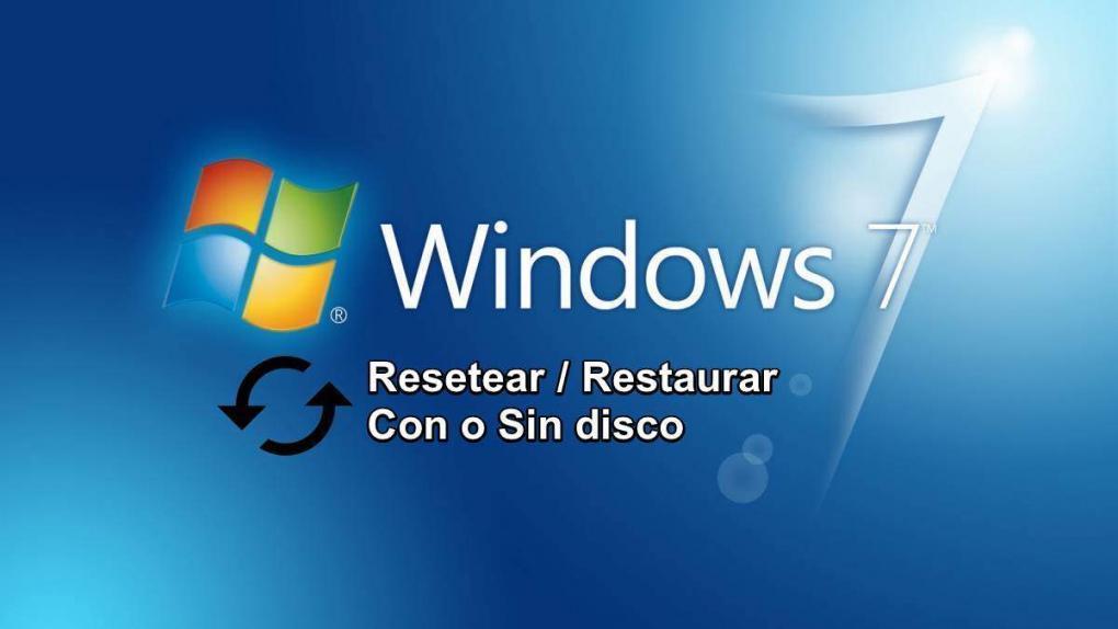 Aprende cómo ⭐ RESTAURAR Windows 7 de fábrica ✅ paso a paso de dos formas (con y sin DISCO DE INSTALACIÓN ⭐) para optimizar el rendimiento de la PC.