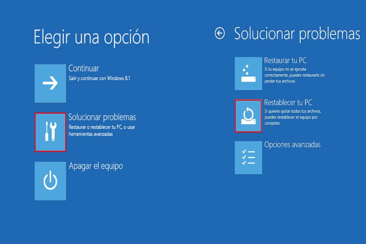 Formatear Windows 8 y 8.1 de fábrica desde arranque