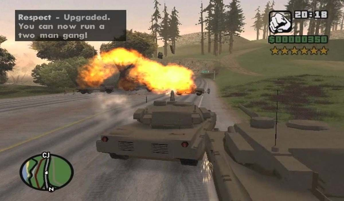 Among the best GTA San Andreas cheats we have the war tank for PC, Xbox and PlayStation