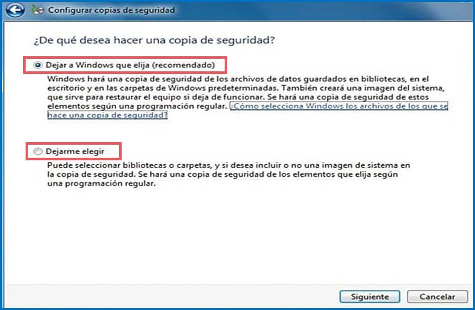 configure backup