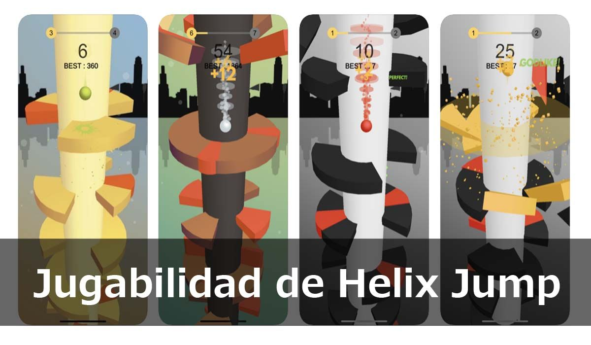 Jugabilidad de Helix Jump