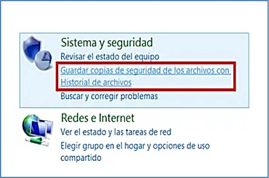 Windows 8 - copia de seguridad