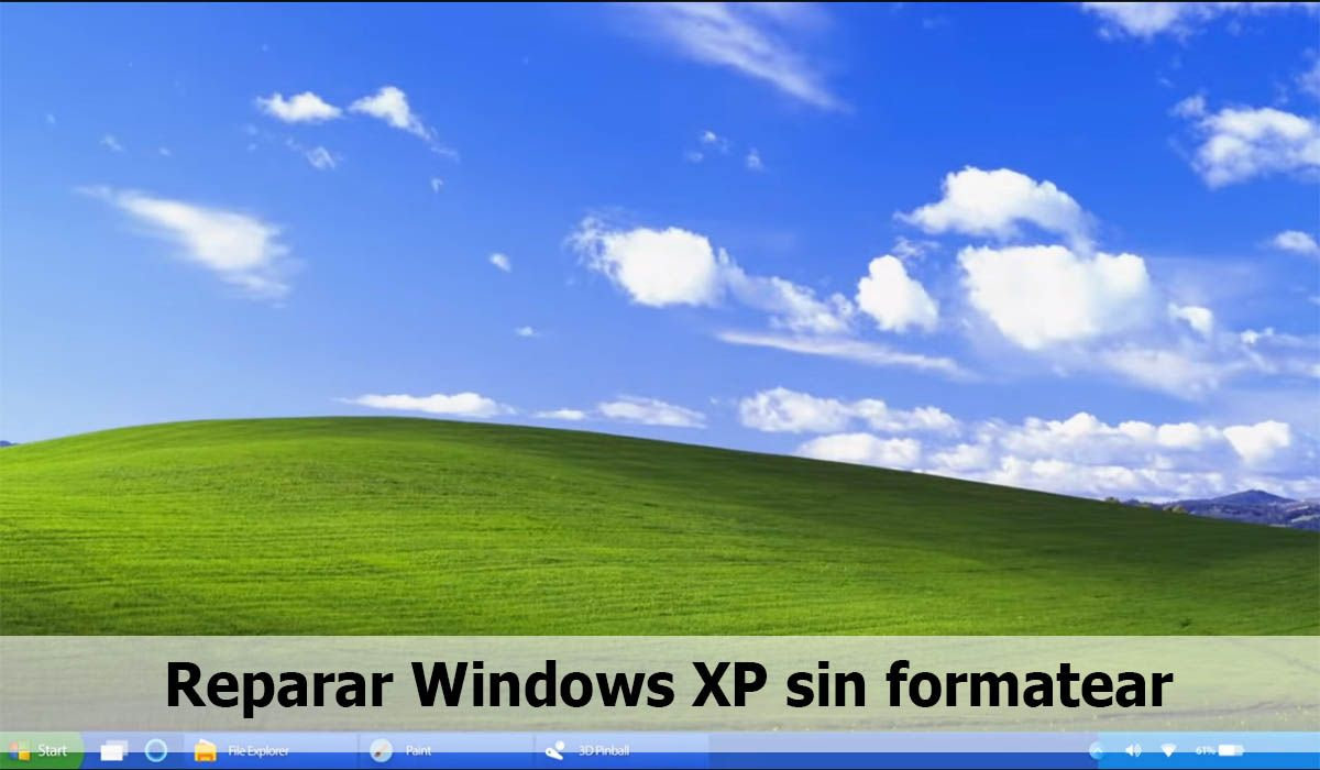 Repair Windows XP system without formatting and without cd