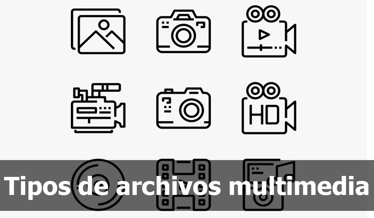 Multimedia file types: audio, video and image