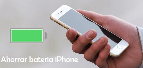 como ahorrar bateria iPhone