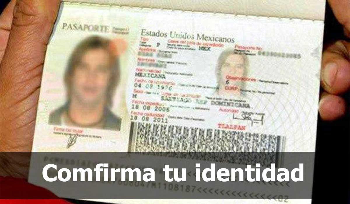 Confirmar tu identidad