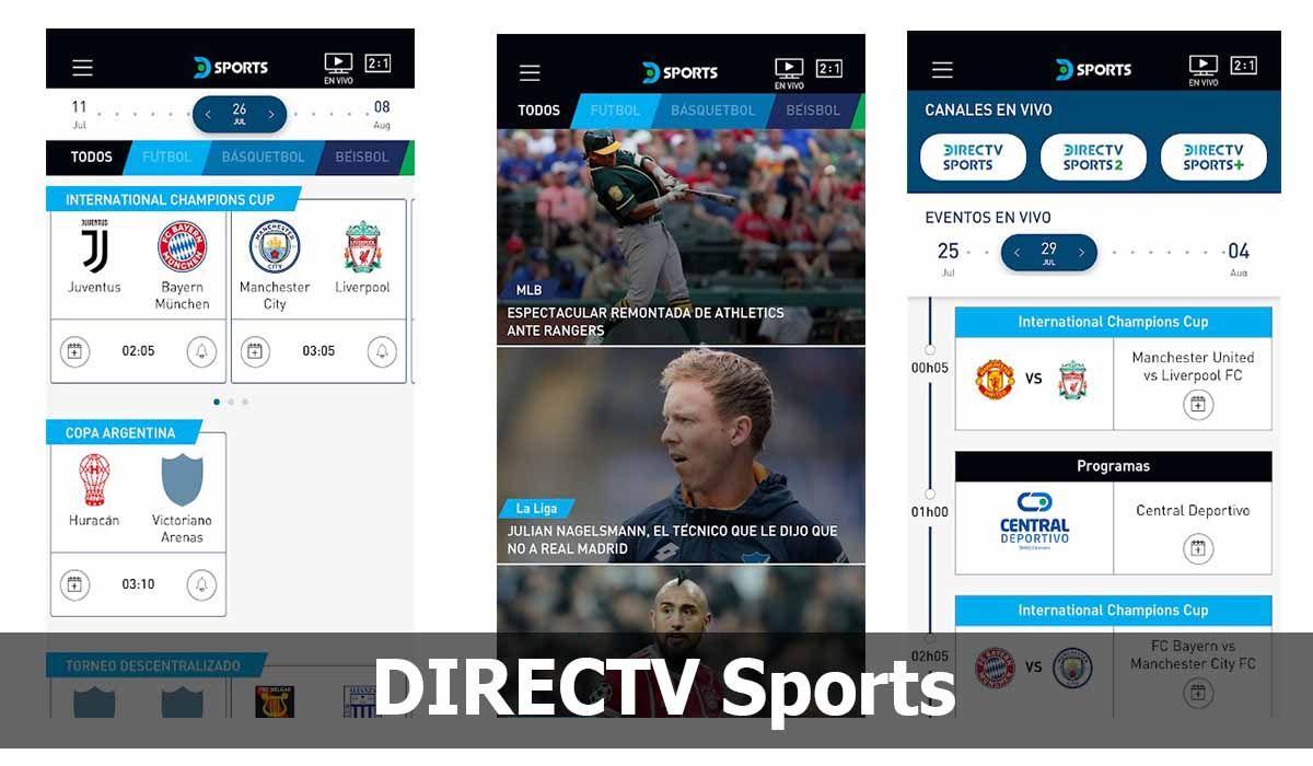 DIRECTV Sports, una de las mejores apps para ver fútbol gratis y sin cortes por internet