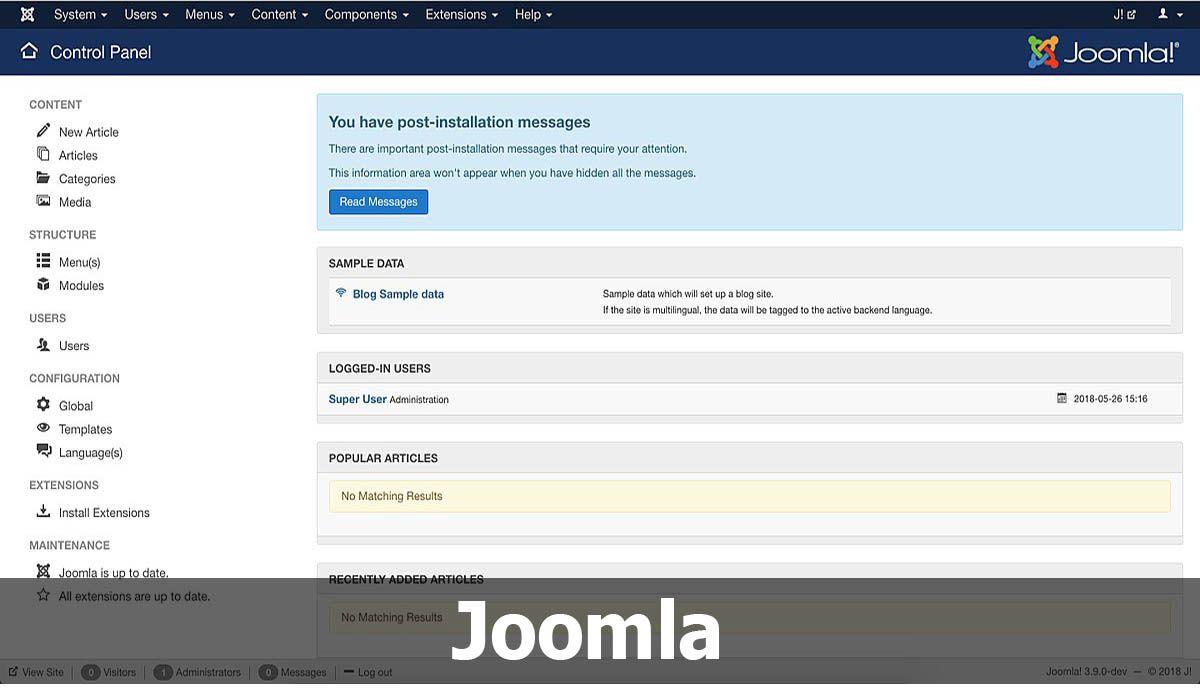Joomla, una de las mejores alternativas a WordPress