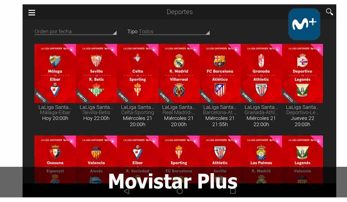 Movistar Plus, es una app para ver partidos gratis