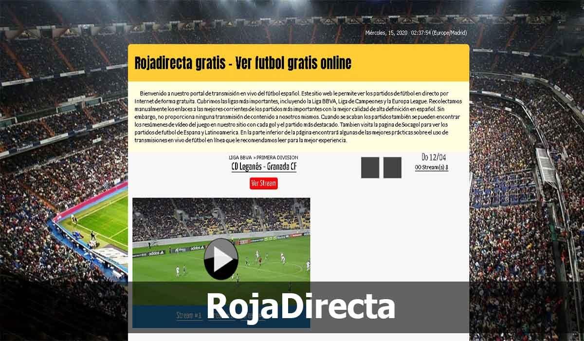 Ver fútbol Online gratis es posible con RojaDirecta