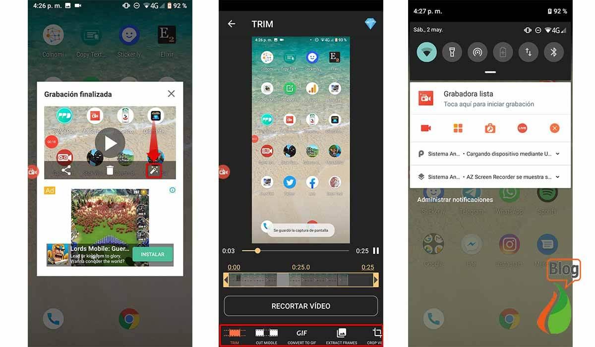 Configure all AZ Screen Recorder options