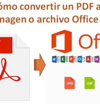 Aprende a ⭐ CONVERTIR tu archivo PDF ✅ a un archivo de IMAGEN (JPG O PNG), o cualquier ARCHIVO OFFICE como Word, Excel, PowerPoint, etc. ⭐