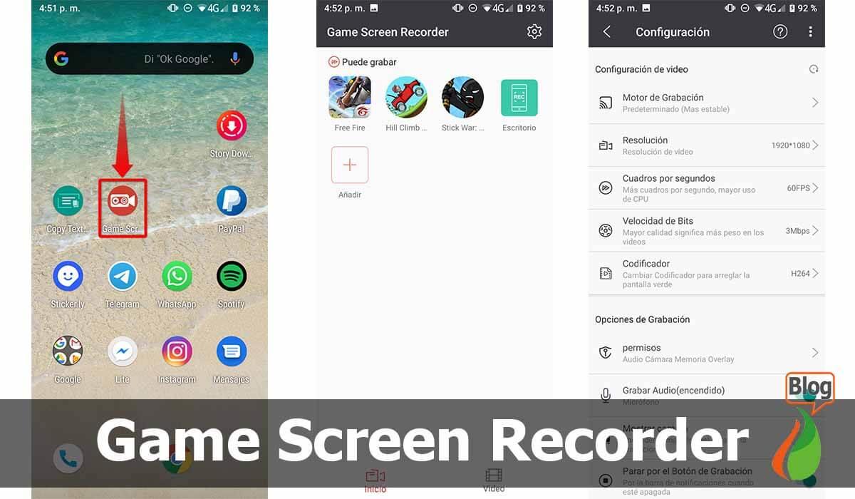 Game Screen Recorder, ideal para gameplay y streaming