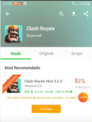 Installation of the hack for Clash Royale.
