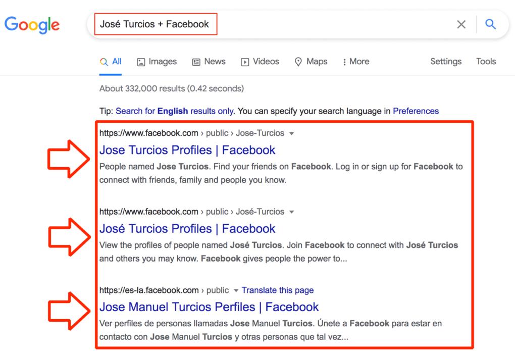 Así puedes buscar personas en Facebook sin tener que registrarte.