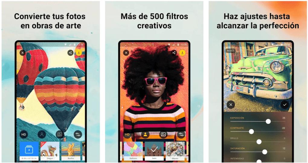 Prisma Photo Editor, una app para hacer caricaturas de fotos.