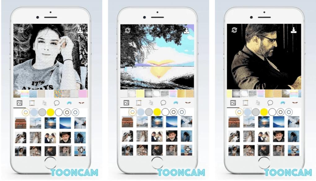 La app de Tooncam te permite convertir fotos en caricaturas de forma fácil.