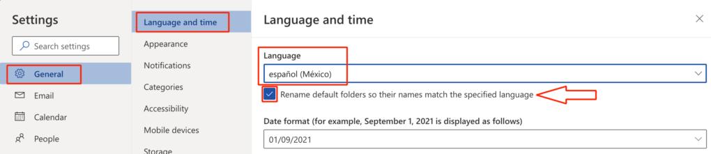 Así es como puedes cambiar el idioma en Outlook.