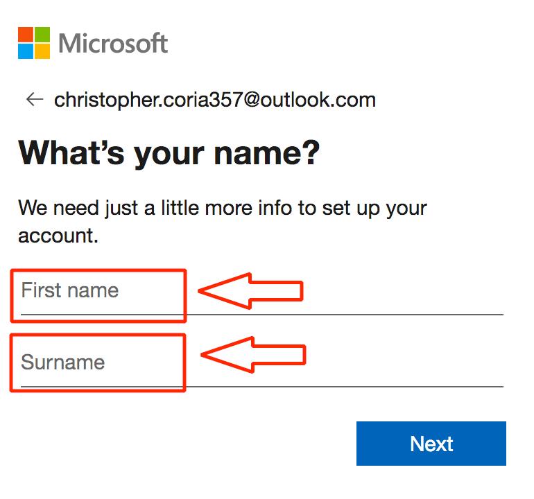 Después, coloca tu nombre y apellidos.